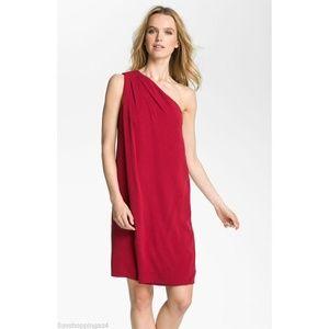 NEW Diane von Furstenberg One Shoulder Silk Dress